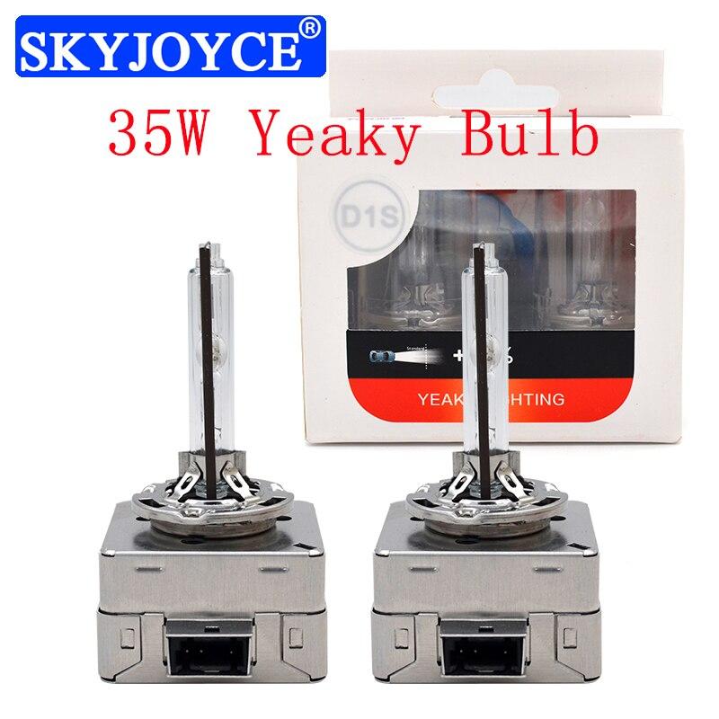 Original 35W Yeaky Xenon HID Bulb 4500K 6500K Yeaky D1S D3S 5500K Metal Base Claw Fast