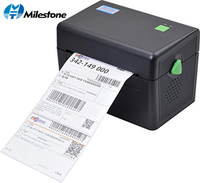 Milestone Thermal Printer with High Quality 108mm 4 inch Thermal Label Barcode Printer USB Port MHT DT108B