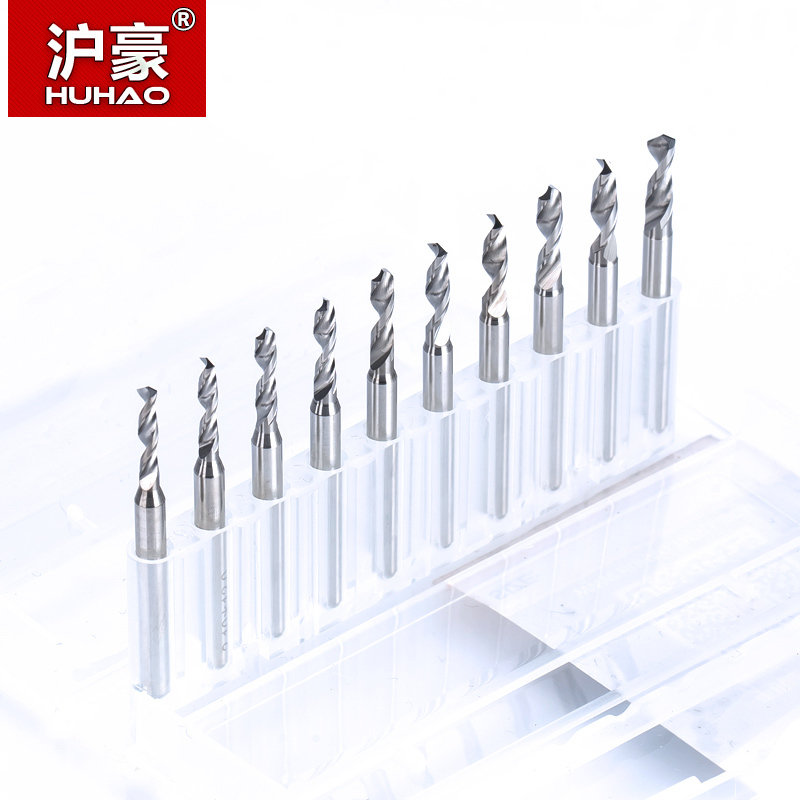 HUHAO 10PCS/lot Shank 3.175mm Carbide PCB Mini Drill Bit CNC Tool Tungsten Steel For Print Circuit Board Dia. 2.1mm-3.0mm