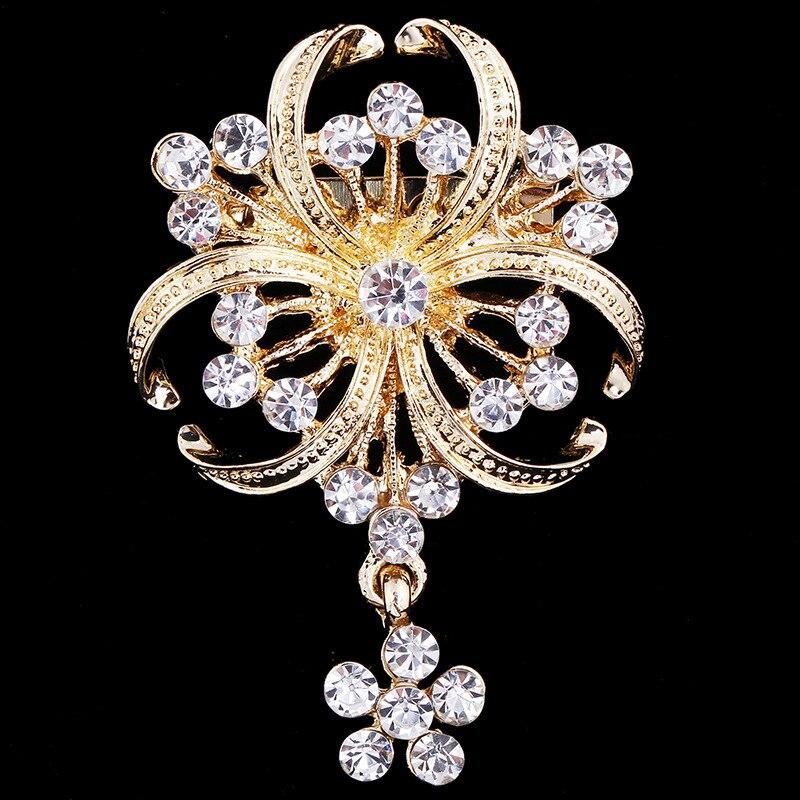 new elegant luxury wedding corsage wedding f rhinestone women brooches for party gift brooch pins