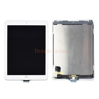 5pcs DHL For iPad Air 2 2nd Generation A1567 A1566 LCD Touch Screen Digitizer Glass Lens Tablet Panel +Adhesive White Black