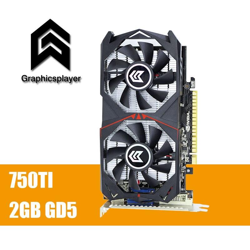 Оригинальная графическая карта GTX 750TI 2048 MB/2 GB 128bit GDDR5 плата видео карт graphique видео карты для NVIDIA Geforce PC VGA