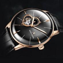 2019 récif tigre hommes robe montre Top marque de luxe automatique montre en cuir véritable bracelet en or Rose montres analogiques RGA8239