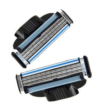 4PCS/SET 3 Layers Men Face Shaving Razor Blades Male Manual Blades For Standard Beard Shaver Trimmer Blades Razor