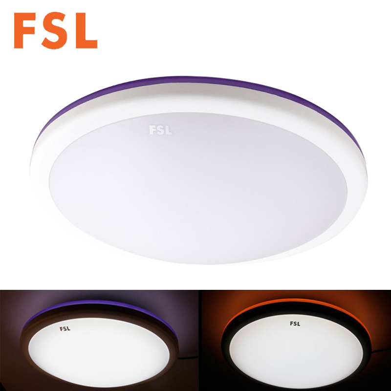 FSL 24 Watt 42 CM Led Deckenleuchte Aluminiumlegierung Acryl Shell Lampe Wohnzimmer Beleuchtung Orange Lila Design 6500 Kara