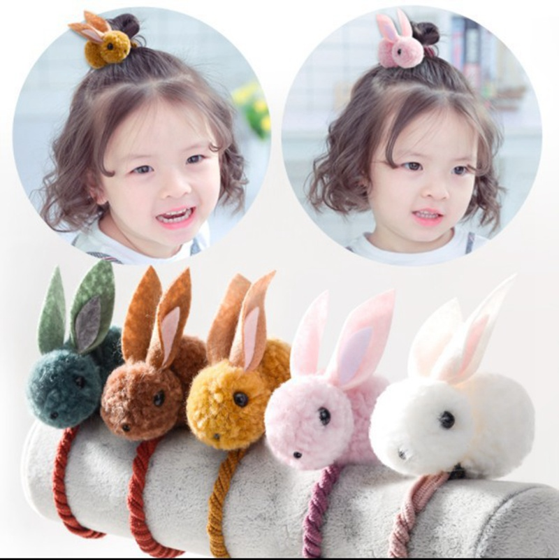 Baby Hair Rubber Bands Rabbit Barrettes Women Girl Scrunchie Kids Hairpins Elastic Ponytail Holder Hair Accessories Hairgrips