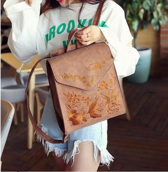 Vintage Pu Leather Women Backpack Preppy Style Backpacks Women Fashion School Bag College Backpack Women Shoulder Bags Mochilas цена 2017