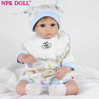 NPKDOLL bebe reborn dolls with soft silicone girl body reborn baby solid girl cheaper toys for girls bebe dolls newborn baby