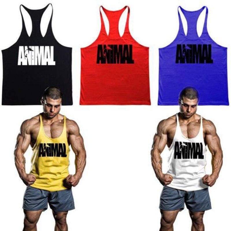 Animal Gym Tank Tops Stringer Men S Singlets Bodybuilding Vest Fitness Sleeveless Shirt Sports Clothes