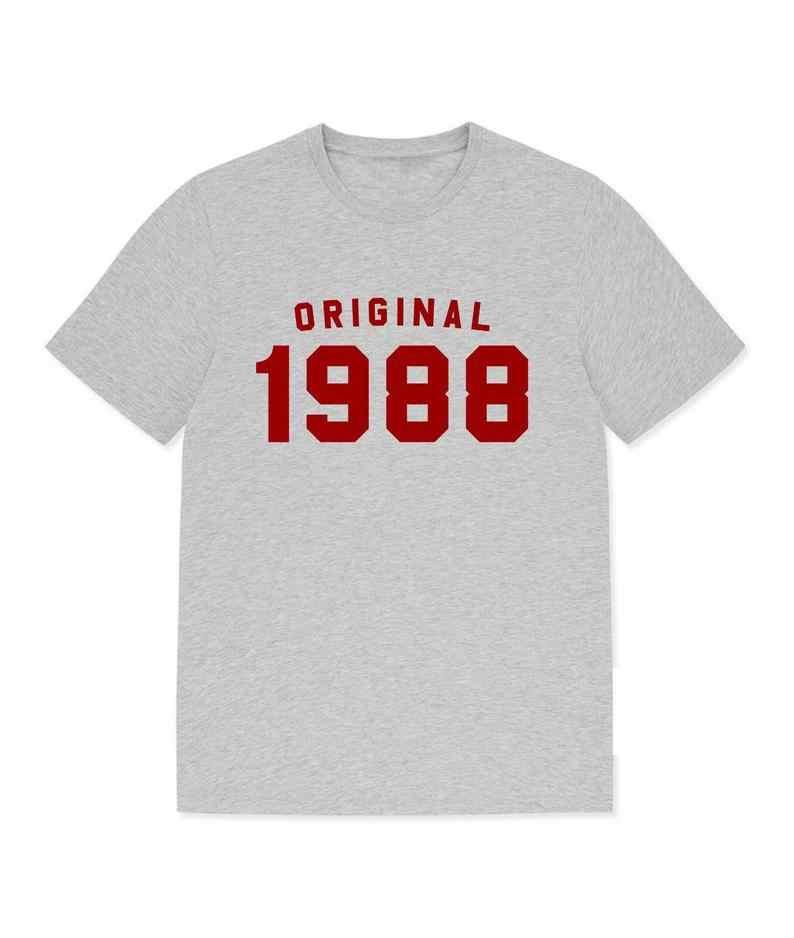 Skuggnas 새로운 도착 원래 1988 티셔츠 30 번째 생일 선물 빈티지 티셔츠 그를위한 그녀의 선물을위한 선물 90 년대 미학 탑스