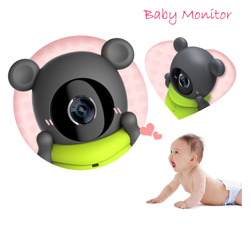 Little bear Wireless Wifi Baby Monitor Intelligent Alerts Night vision Intercom 720P baby camera TF Card Storage Smart home new wireless remote control baby monitor with night vision intercom voice wifi network ip camera electronic for smart phone