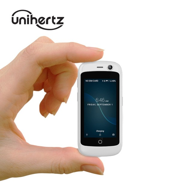 Unihertz Jelly Pro, 세계에서 가장 작은 4G 스마트 폰, Android 8.1 Oreo 잠금 해제 된 미니 폰, 2GB RAM 16GB ROM 흰색