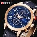 Marca de Luxo CURREN Esporte Quartz Relógios de Ouro Homens Relógio de Couro relógio de Pulso Das Mulheres Dos Homens Relógios De Pulso relogio masculino montre homme