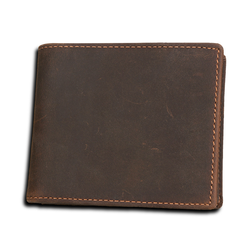 FSINNLV Men Wallet Genuine Leather Clutch High Quality Business Small Male Wallet RFID Coin Purse Card Holder Portemonnee HB56