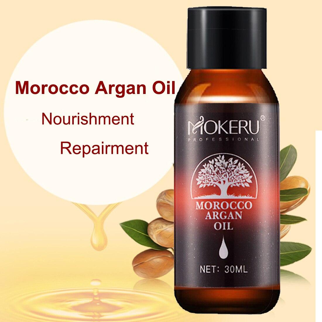 Mokeru 30ml Repairing Damage Dry Hair Moisturizing Nourishing Pure Argan oil hair care essential oil for hair growth Treatment
