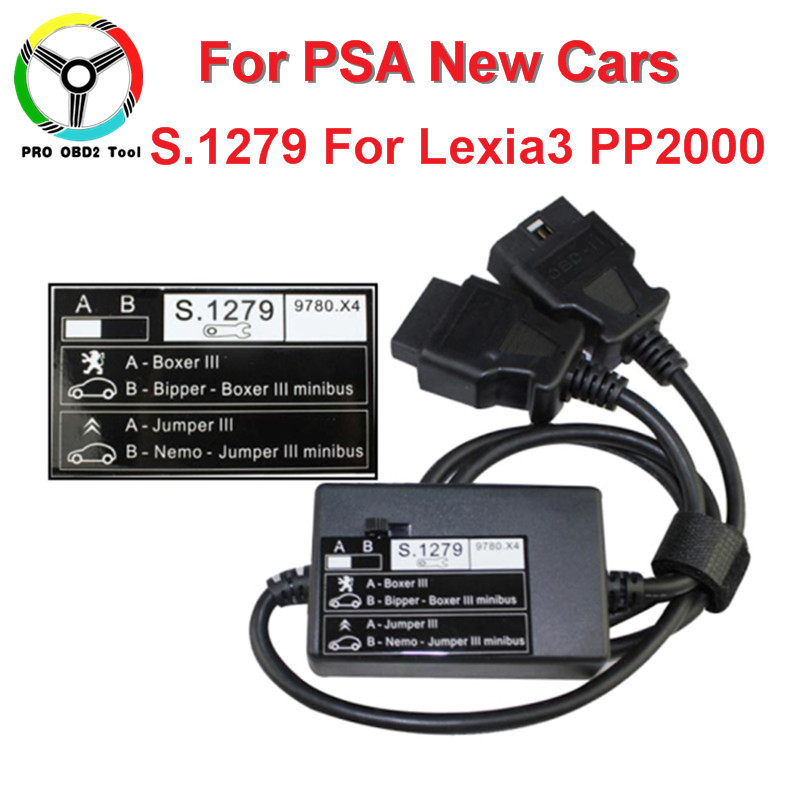 Newly S.1279 Module For Lexia3 PP2000 OBD2 Interface For Nemo/Bipper/Boxer Jumper III Professional S1279 For Citroen Peugeot