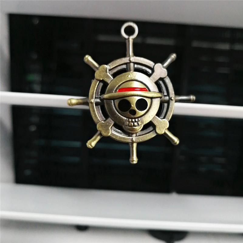 Cartoon Air Freshener Clip Car Styling Perfume For Air Condition Vent The One Piece Luffy Straw hat pirate rudder Fans D4 in Air Freshener from Automobiles Motorcycles