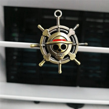 Cartoon Air Freshener Clip Car Styling Perfume For Condition Vent The One Piece Luffy Straw hat pirate rudder Fans D4