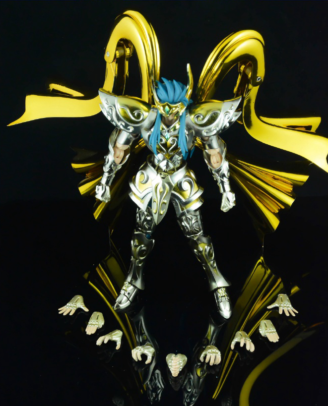 in stock Aquarius Camus Saint Seiya Myth Cloth EX soul of gold SOG Divine armor CS Speeding Aurora model toy PayPal Payment high quality gold soul saint seiya ex gold saint aquarius bottle camus model toys