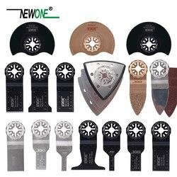 Juego de cuchillas de sierra Starlock NEWONE 66 Uds apto para herramientas oscilantes eléctricas para cortar madera, pulidor de plástico, cerámica, eliminar suciedad