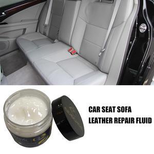 Image 2 - 50ML voiture Auto cuir Recoloring baume renouveler restaurer réparation couleur à délavé ou cuir éraflure réparation pour Couches sièges de voiture sacs à main