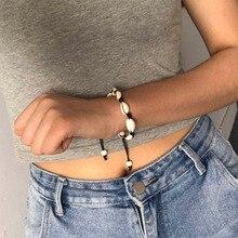 Natural Shell Bracelets for Women Delicate Rope Chain Bracelet Beads Charm Bracelet Bohemian Beach Jewelry For Girl Gift WD261 недорго, оригинальная цена