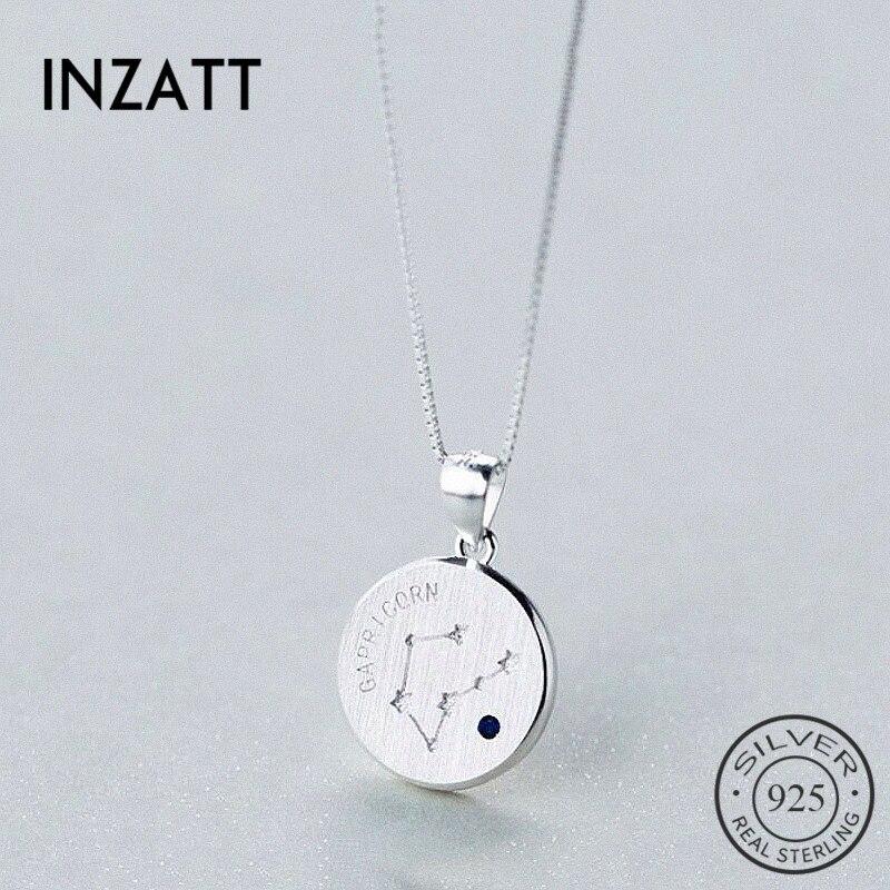 INZATT Echt 925 Sterling Silber Mode Zirkon Konstellation Halsband Halskette 2018 Edlen Schmuck Für Frauen Geburtstag Party Geschenk