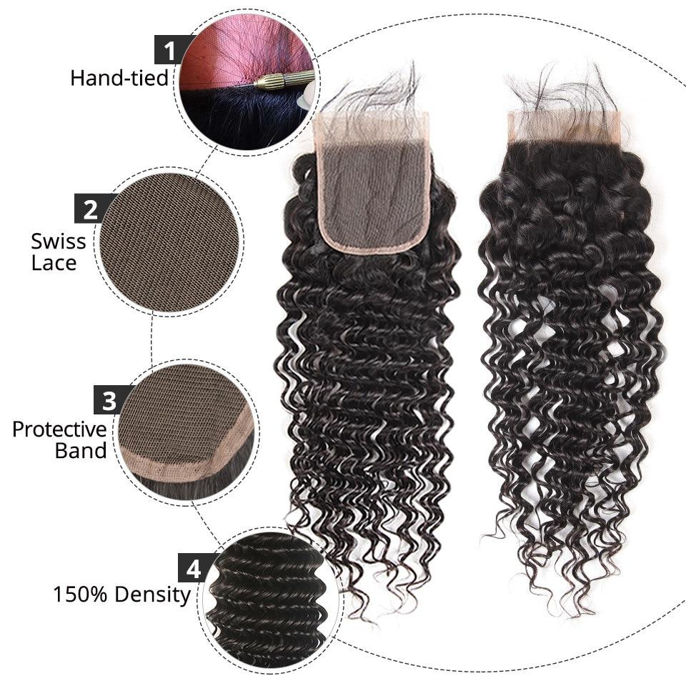 HTB18uRbCL9TBuNjy0Fcq6zeiFXaS AliPearl Hair Deep Wave Bundles With Lace Closure Human Hair Brazilian Hair Weave 3 Bundles With Closure Remy Hair Extension