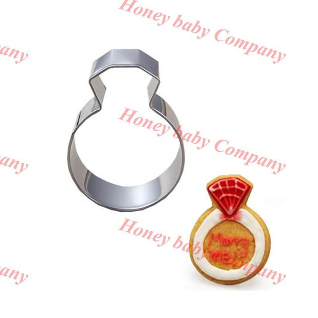 Stainless Steel Ring Shape Biscuit Baking Tools Wedding Rings