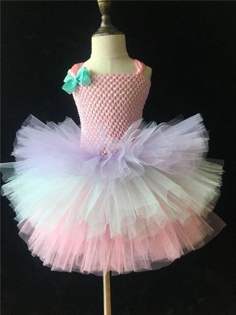 7bf6ad3529263 Jolies filles 3 couches gâteau Tutu robe bébé moelleux Crochet Tulle Tutus  robe de bal avec
