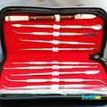 Free shipping Dental Lab Stainless Steel Kit Wax Carving Tool Set Surgical Dental Instruments
