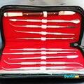 O envio gratuito de Laboratório Dental Aço Inoxidável Kit Cera Carving Tool Set Instrumentos Cirúrgicos Dental