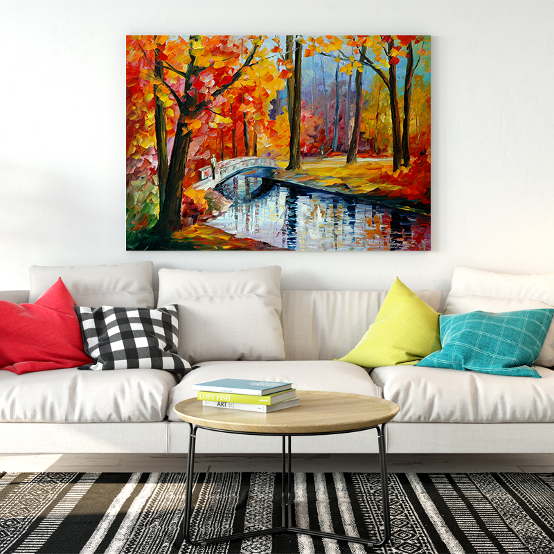 Newbility Classical Colorful Landscape Paintings Retro Buildings Bedroom Wall Art Posters Living