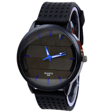 Men s Casual Fashion Watches Stereo Clock Surface Silicone Analog wristwatch wholesale