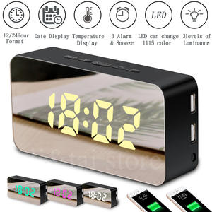 Digital Clock Led-Light Desktop Table Snooze-Display Time Multifunction