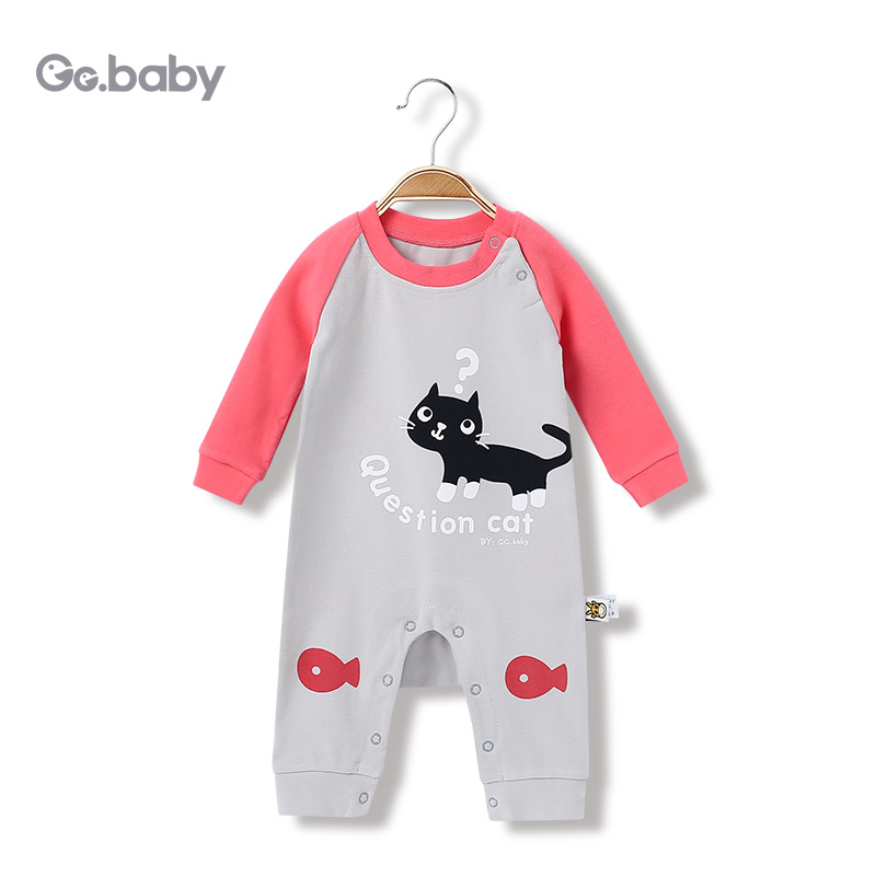 Autumn Winter Baby Long Sleeve Romper Baby Girl Rompers Infant Girls Jumpsuit Overall Cat Baby Boy Jumpsuits For Newborns Onesie