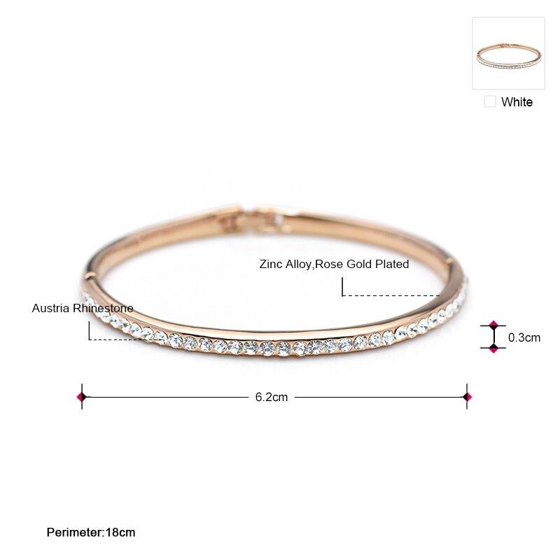 Neoglory Bracelet avec strass autrichiens Doré Or Cadeau Femme