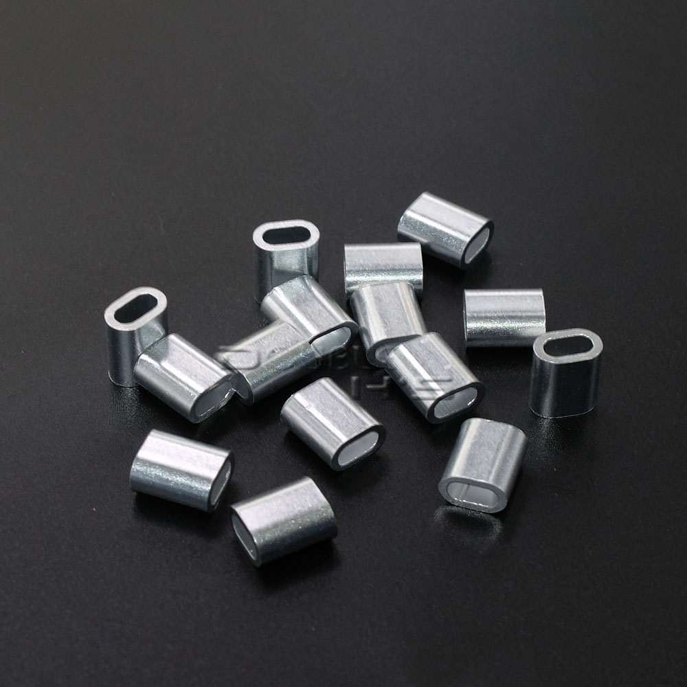 20pcs/lot Aluminum Cable Crimp Sleeve Cable Ferrule Stop for Snare ...