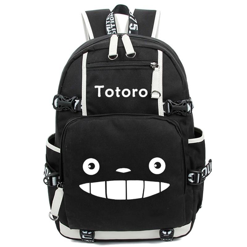 Anime Totoro School Bags Backpack My Neighbour Totoro Luminous Students Bookbag Laptop Schoolbags Rucksack Free Shipping #2