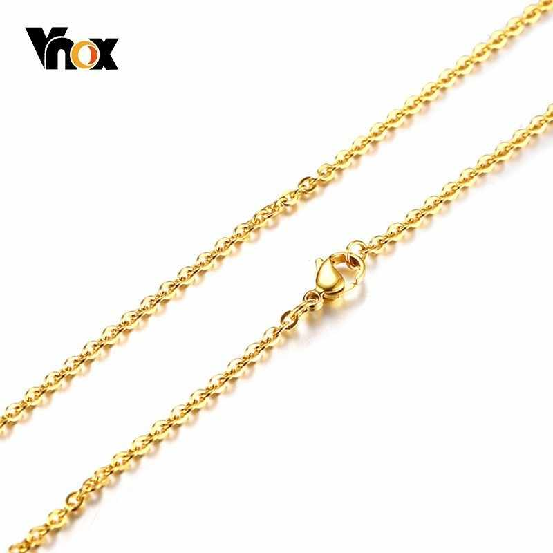 """Vnox DIY Link Chain Necklace With Lobster Clasps for Women Jewelry Making Colar 20"""""""