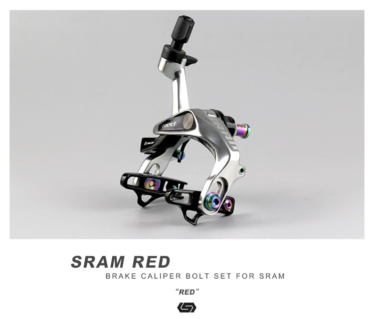 STAN Ti Road Bike V Brake Bolts Kit For SRAM Red Brake Caliper in Bicycle Brake from Sports Entertainment