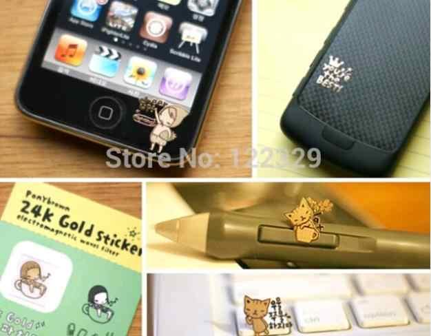 3pcs for Alcatel 7/U3 2018/5V/1/3L/1T 10/1T 7/1C/1X/3X/3/5/3V/VERSO/3C  phone Anti Radiation Sticker 24k Gold Plating Stickers