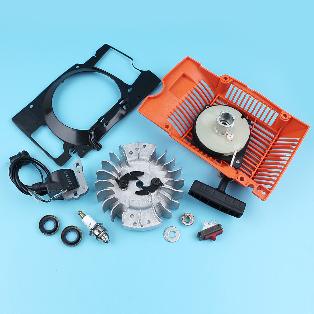 Conductor Air Chainsaw For 272 268 Husqvarna Starter Oil Seal Flywheel Coil Ingition Switch 272XP Recoil