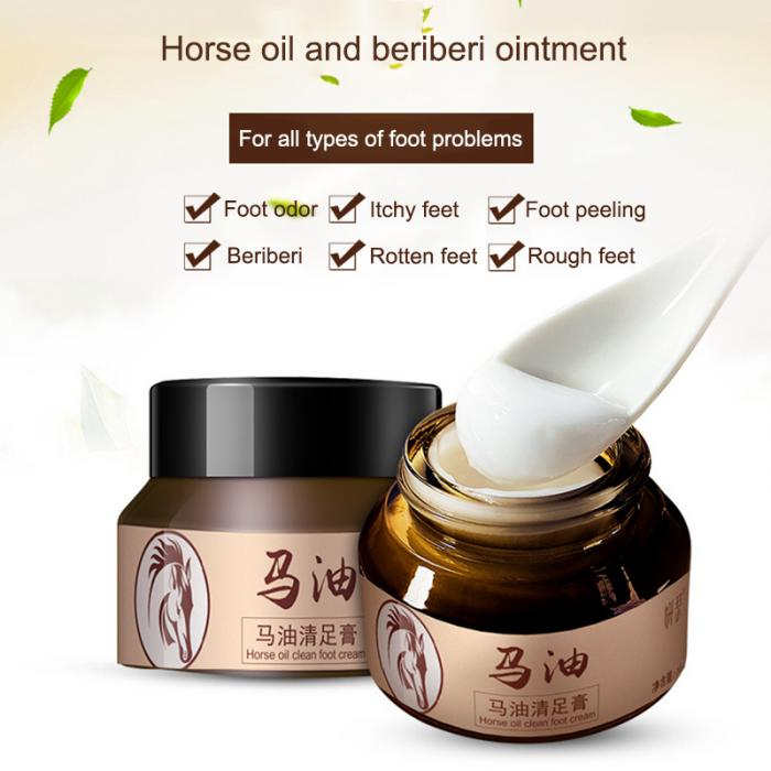 18 Horse Oil Feet Cream for Athlete Feet Itch Blisters Anti-chapping Peeling Antibacterial Ointment 9