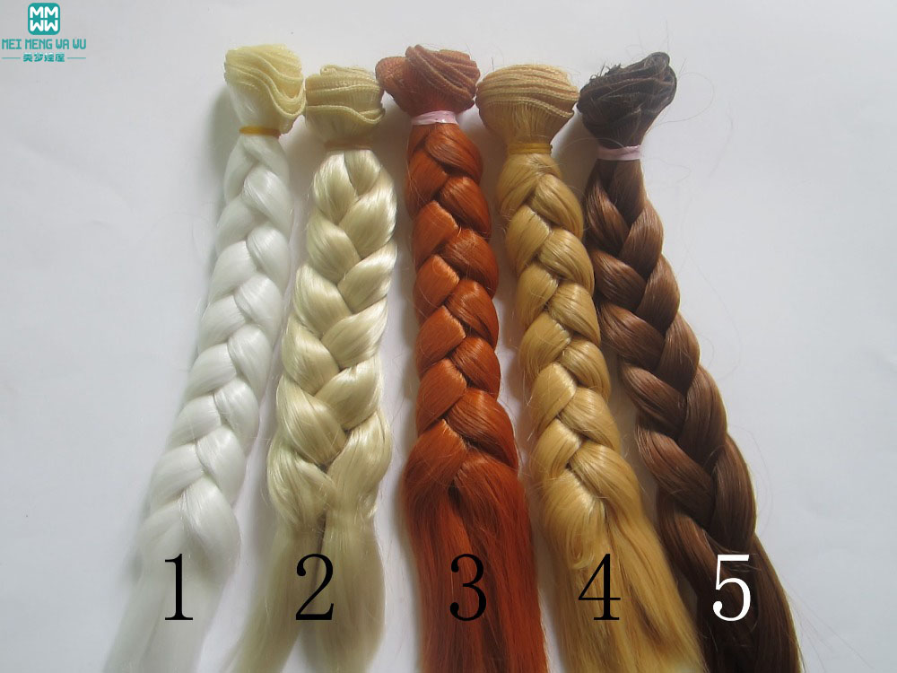 1pcs 20cm*100CM Braid hair style Wigs/hair for dolls 1/3 1/4 BJD/SD DIY High-temperature Wire Handmade wigs doll hair wigs for 1 3 1 4 1 6 bjd wigs high temperature wire fashion curly hair piece for bjd sd dollfie 1pcs 25cm 100cm