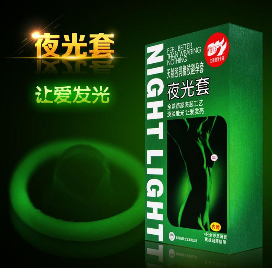 High Quality 3pcs Luminous Condoms + 4pcs Ultrathin Condoms Fluorescence Special Condoms Medical Themed Sex Toys