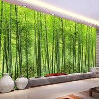 HD зеленый бамбуковый лес природный пейзаж фотообои Гостиная Кабинет Настройка комнаты фон Экологичные обои
