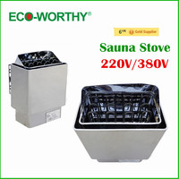 EU Stock 220V Sauna Room Use 6KW Stainless Steel Wet & Dry Sauna Stove, Sauna Heater For Sale