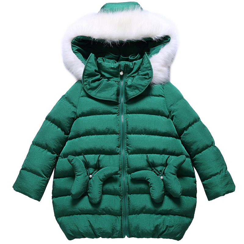 Girl winter jacket coat green 2017 new lovely cute fashion long outerwear for 4 5 6 7 8 9 10 11 12 13 14 years children clothing children cowboy jacket coat hooded 2017 winter new tide thick cashmere long outerwear size 4 5 6 7 8 9 10 11 12 13 years girl