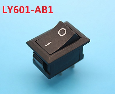 KCD1 LY601-AB1 black AC swicths 2 pin 2 position on off electrical rocker switch